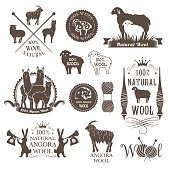 Wool labels and design elements.