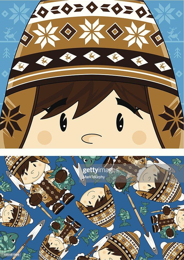 Wooly Hat Inuit Boy Pattern