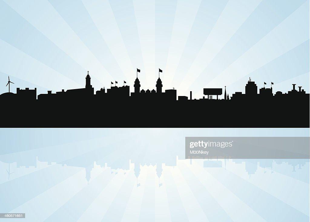 Worcester Massachusetts Skyline
