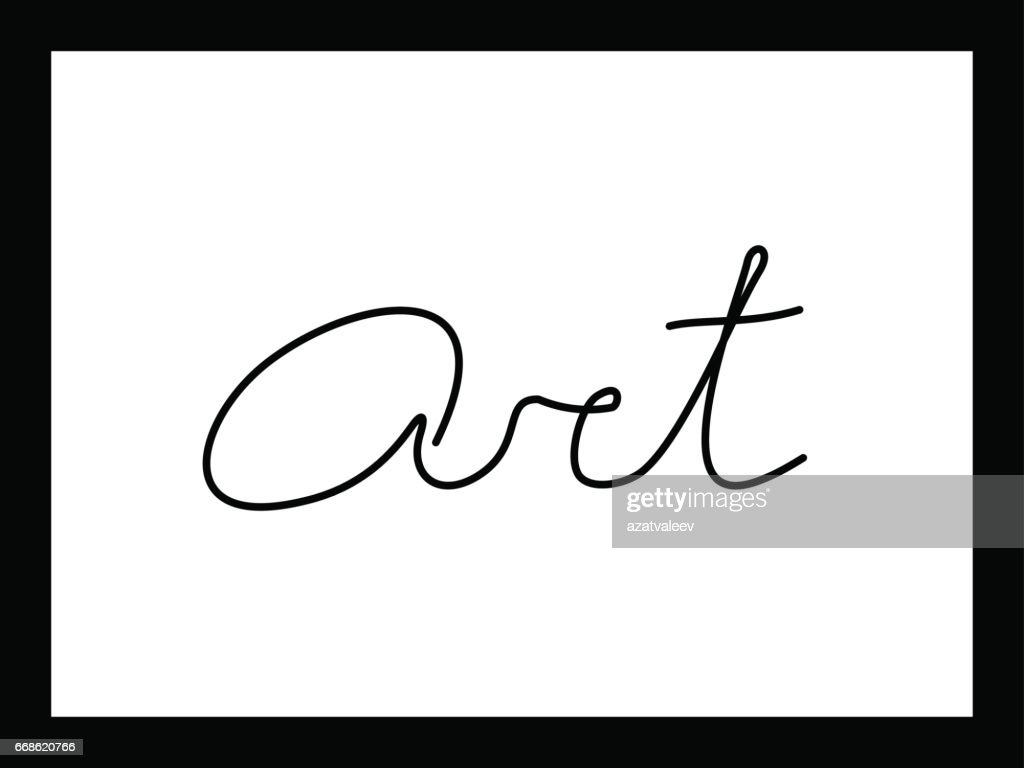 Word Art In Frame Vector Art | Getty Images