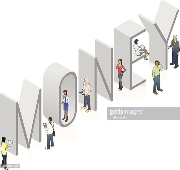 money word art - mathisworks stock illustrations