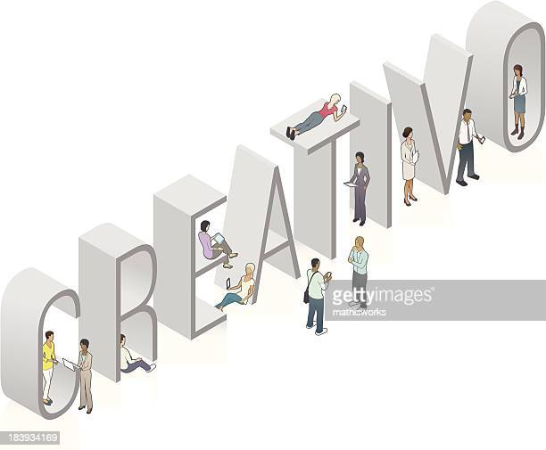 creativo wort art - mathisworks stock-grafiken, -clipart, -cartoons und -symbole