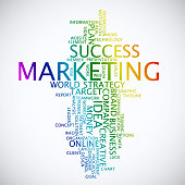 Word cloud business concept. Marketing advertisement from text