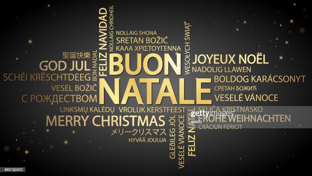 Frohe weihnachten italienisch