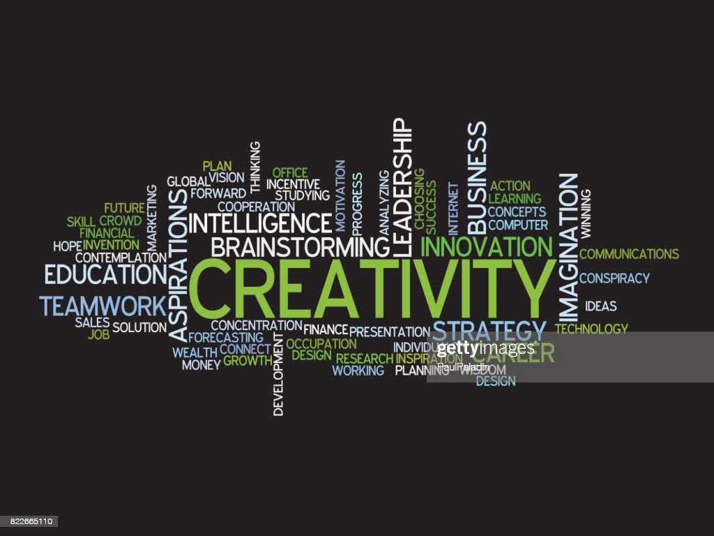 word cloud metaphor for creative