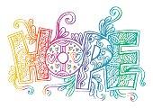 Word hope stylized