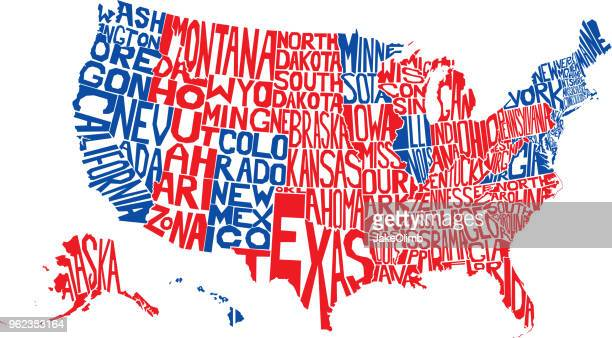 usa word map election - usa stock illustrations