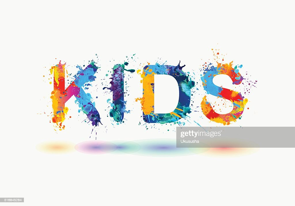 Kids word written spray paint vector art getty images word written spray paint vector art ccuart Image collections