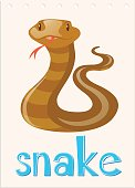 Wordcard with wild snake
