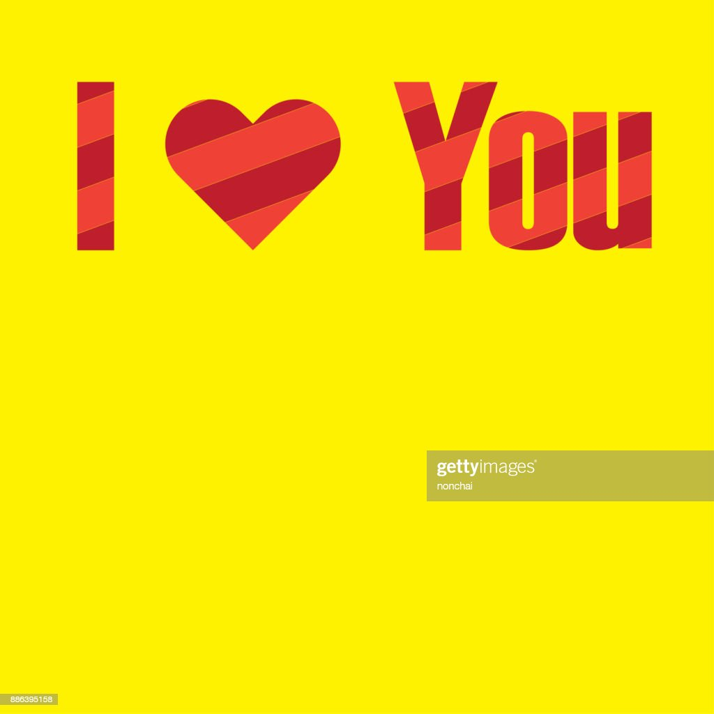 Wording I Love You Use Heart Sign Symbol Instead Of Love Word Best