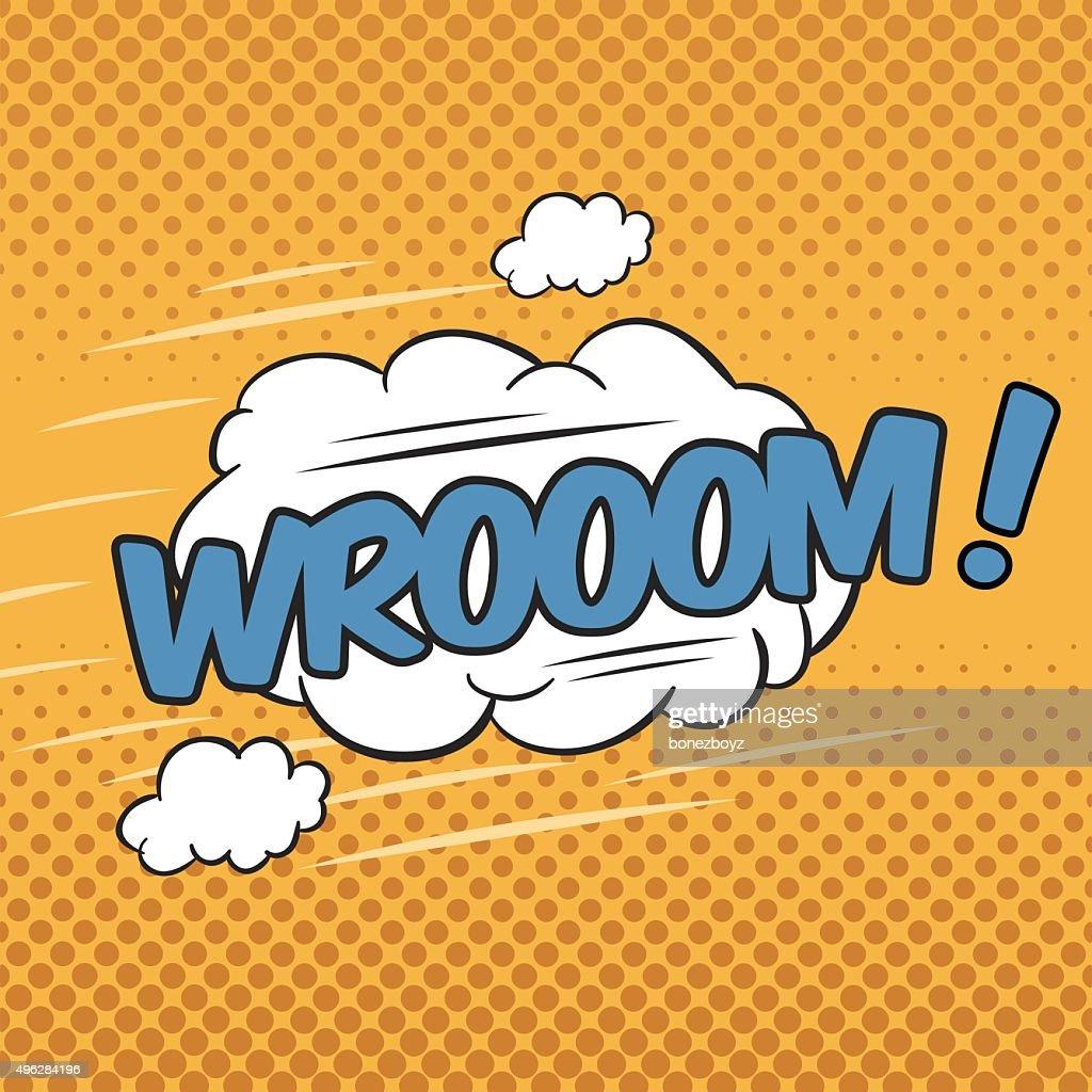 WROOOM! Wording Sound Effect