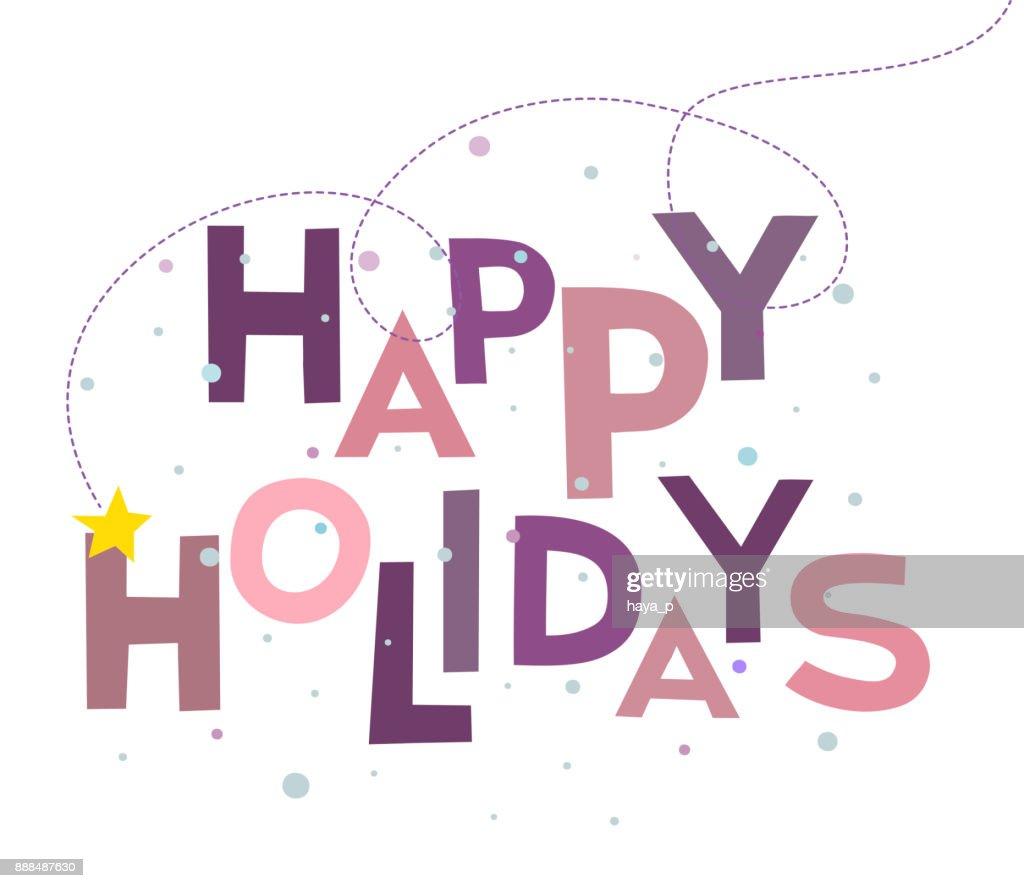 Wörter Hintergrund Happy Holidays Text Worte Weihnachten Und Frohe ...