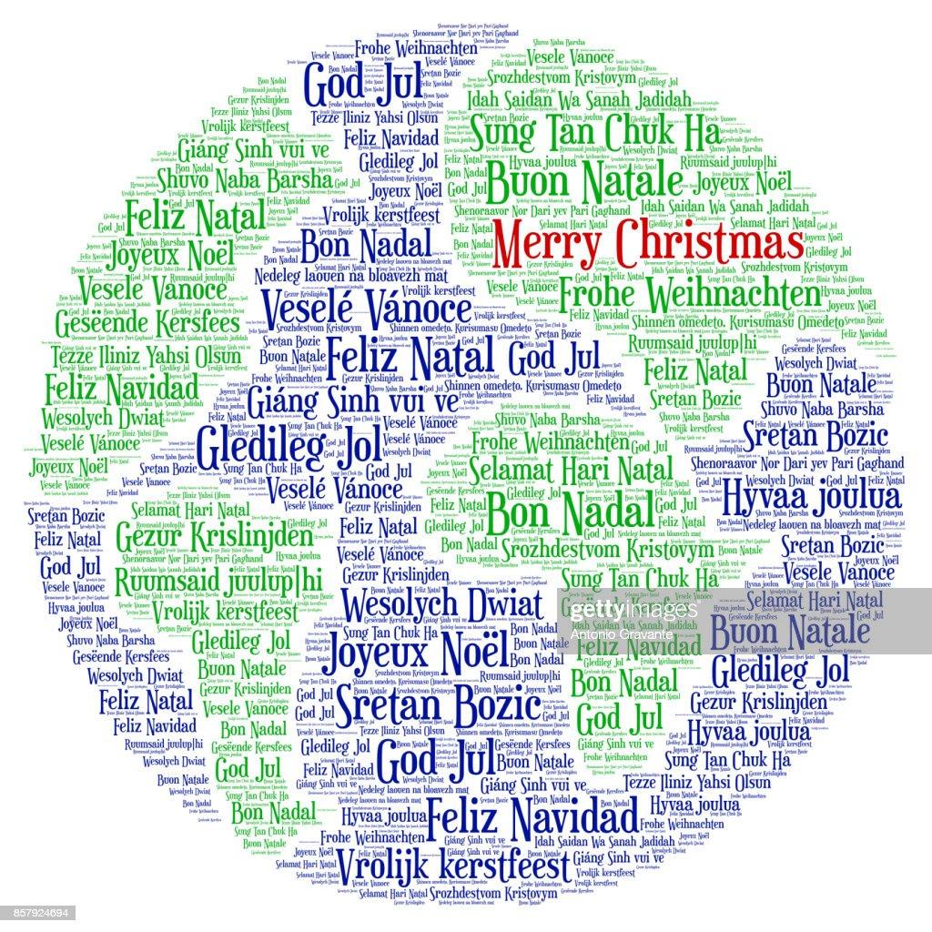 Frohe Weihnachten Auf Allen Sprachen.Wörter Wolke Frohe Weihnachten In Allen Sprachen Der Welt