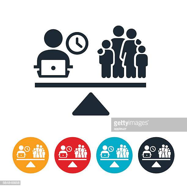 work and family balance icon - balance stock illustrations