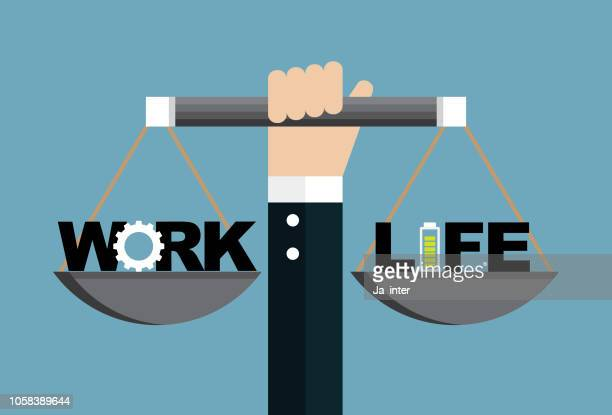 work and life - overworked stock illustrations