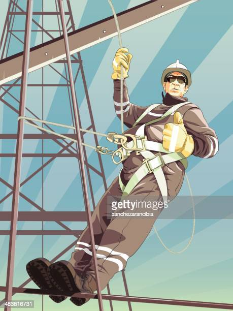 work at height - high up stock illustrations, clip art, cartoons, & icons