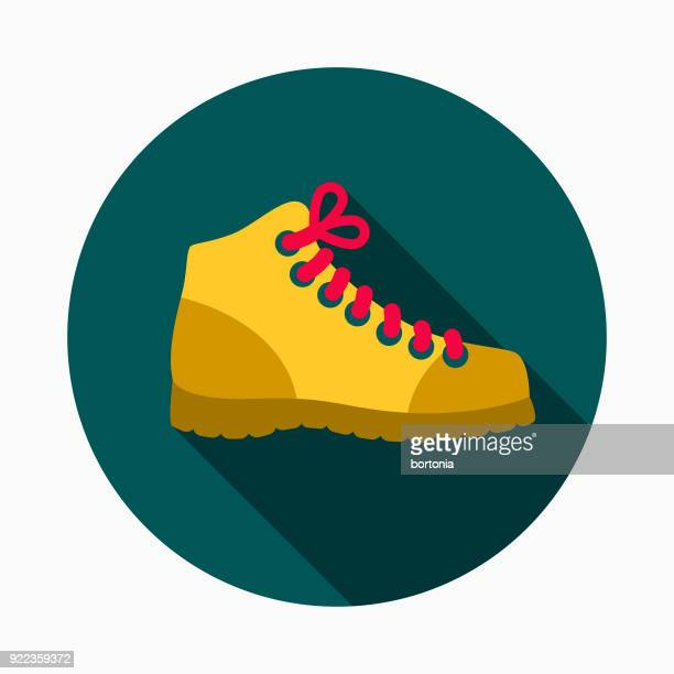 work boots flat design home improvement icon - ankle boot stock illustrations