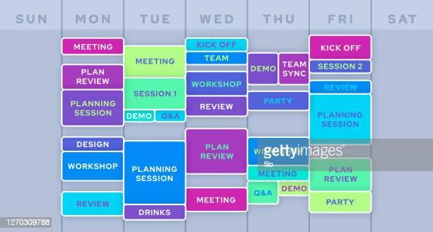 業務ビジネス計画カレンダースケジュール - 混雑した点のイラスト素材/クリップアート素材/マンガ素材/アイコン素材