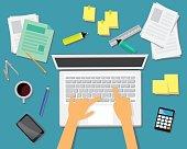 Work Desk Business Concept