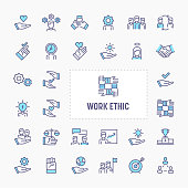Work Ethic Minimal Icon Set