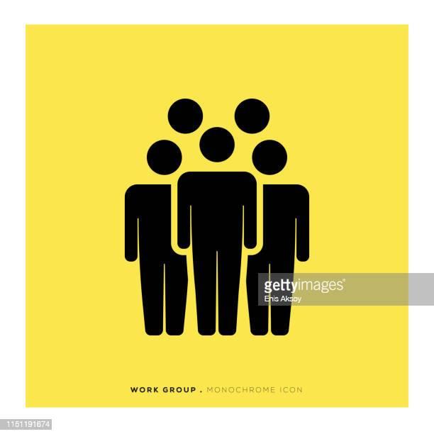 Icône de groupe de travail monochrome