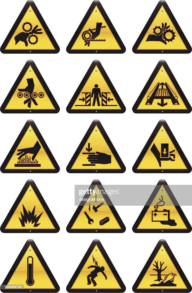 Work Hazard Signs : stock illustration