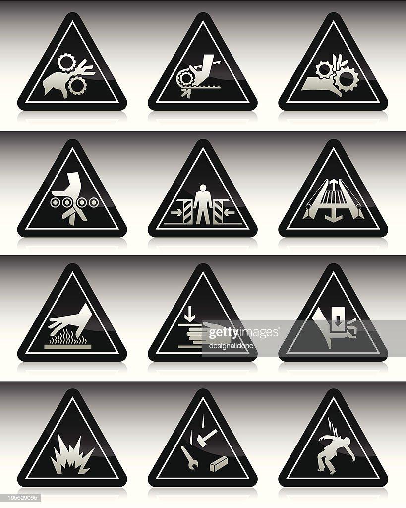 Work Hazard Symbols : Black Series