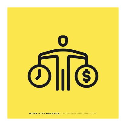 Work Life Balance Rounded Line Icon - gettyimageskorea