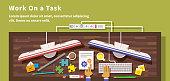 Work on Task Design Flat Style