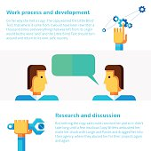 Work process and development concept vector illustration