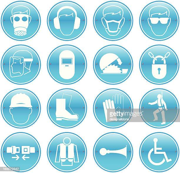 work safety icons - office safety stock illustrations, clip art, cartoons, & icons