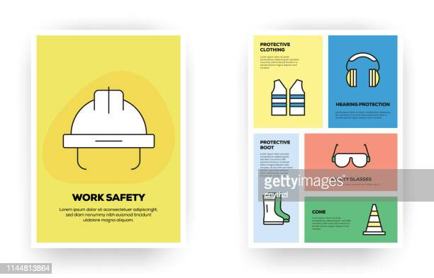 work safety related infographic - waistcoat stock illustrations, clip art, cartoons, & icons