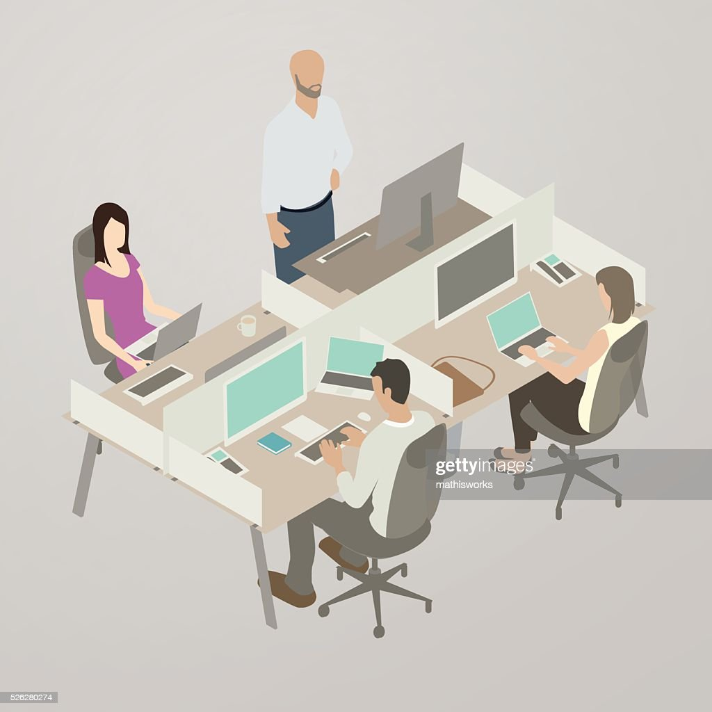 Work Team, Flat Style Illustration : stock illustration