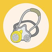 work tool gas mask theme elements vector,eps