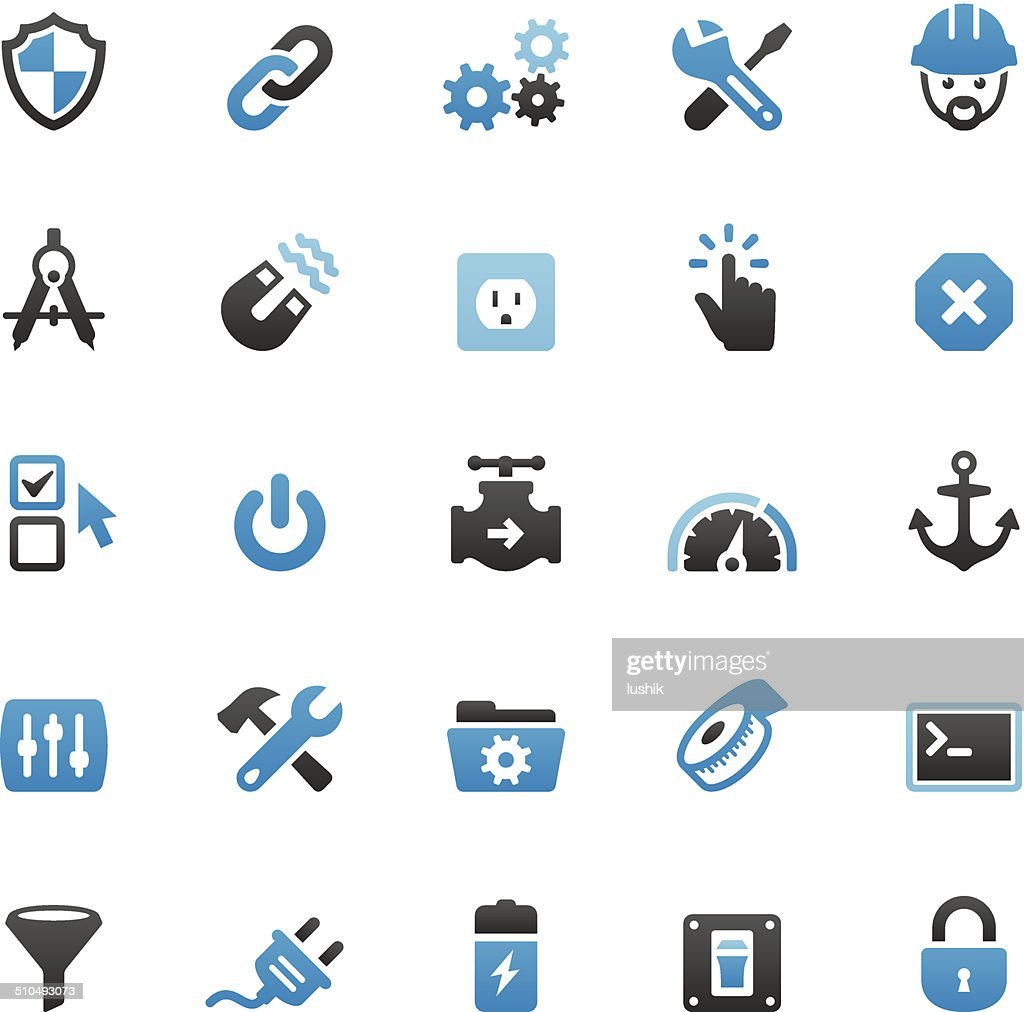 Work Tool icons set