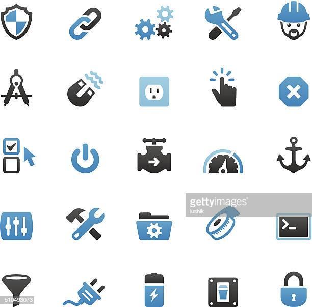 work tool icons set - sensor stock illustrations, clip art, cartoons, & icons