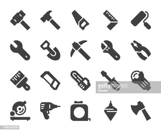 work tool - icons - carpenter stock illustrations