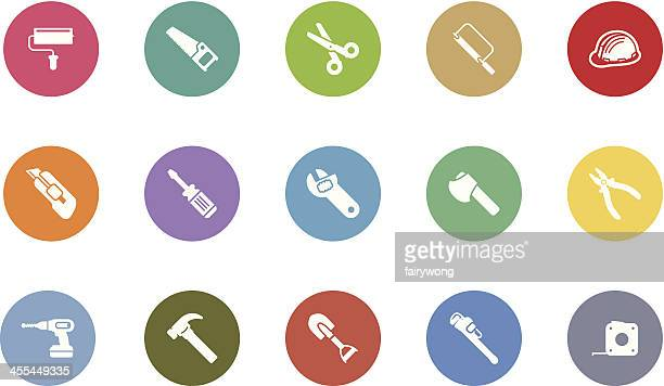 work tool icons - serrated stock illustrations, clip art, cartoons, & icons