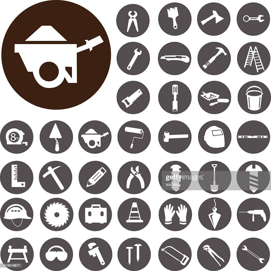 Work Tools icons set. Illustration eps10