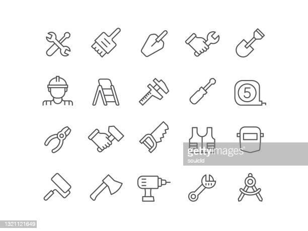 arbeitstools-symbole - schieblehre stock-grafiken, -clipart, -cartoons und -symbole