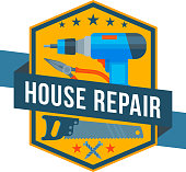 Work tools vector icon of home repair construction