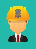 Worker avatar with  a ribbon award