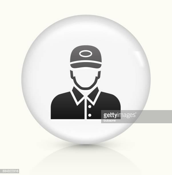 員のアイコンホワイト丸いベクトルボタン