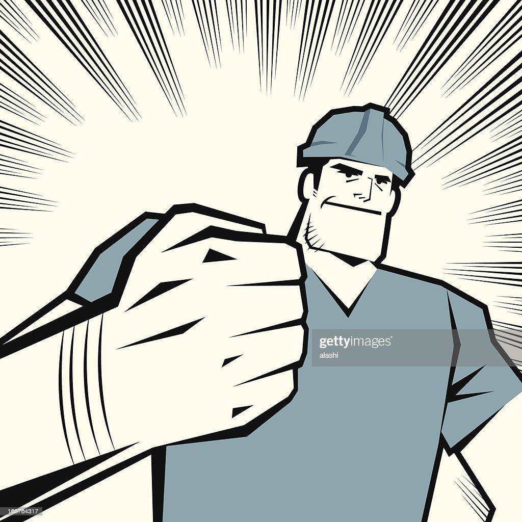 Worker with Fist Raised
