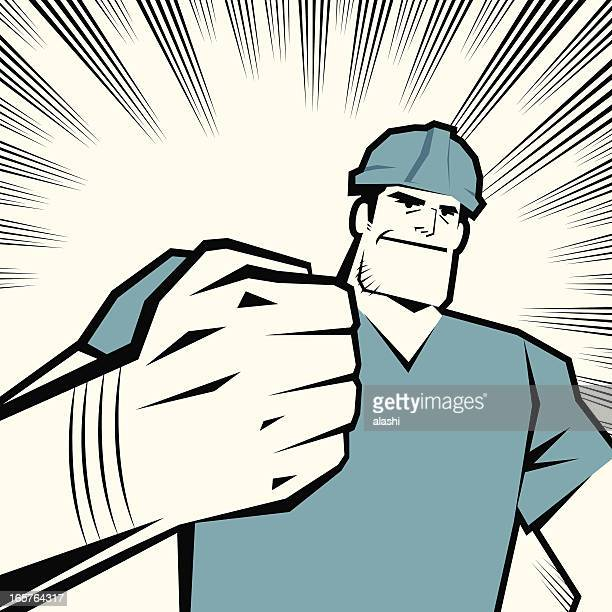 worker with fist raised - protective workwear stock illustrations, clip art, cartoons, & icons