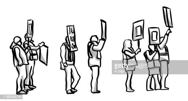 workers on strike - striker stock illustrations