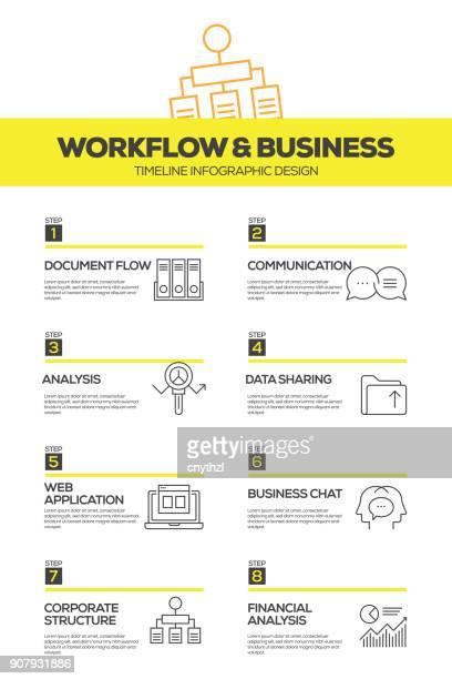 Workflow and Business Infographic Design Template