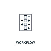 Workflow icon. Premium style design from design ui and ux icon collection. Pixel perfect Workflow icon for web design, apps, software, print usage