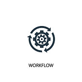 Workflow icon. Simple element illustration