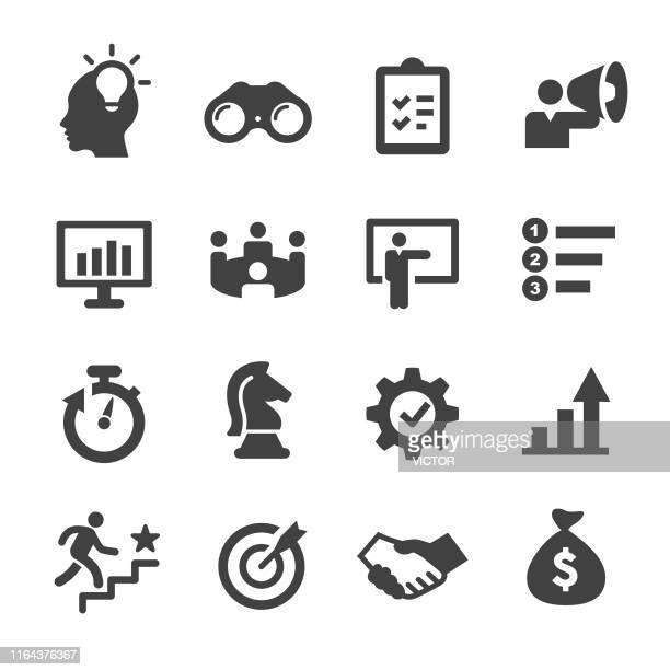 workflow icons - acme series - arranging stock illustrations